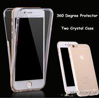 caso claro del frente del frente del iphone al por mayor-360 grados de cuerpo completo de la cubierta del cuerpo frente suave TPU claro protector para iPhone X 8 7 6s Samsung S9 S9 Plus Note8