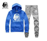 colores de traje mixto al por mayor-s-5xl envío gratis Hoodies Hip Hop Mens Last Kings Chándales Slim Mixed Colors Sweatshirt Traje o-cuello