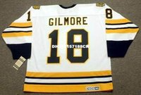 Wholesale Full Happy - Cheap custom retro HAPPY GILMORE Boston Bruins CCM Vintage Jerseys Throwback White Jerseys Throwback Mens stitched Hockey Jersey