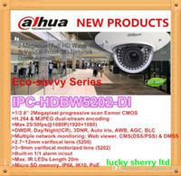 Dahua Eco-savvy Series IPC-HDBW5202-DI Dahua 2MP 1080P Exterior IR Dome IP Camera 20m Infravermelho 3 ~ 9mm varifocal motorizado IP66 POE 2yr
