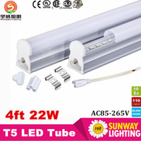 Wholesale Cree Led Lighting Strip Lights - Big Sales!T5 LED Integrated Strip 22W 120cm 4 foot 4 FT LED Tube light Epistar SMD2835 AC85-265V UL&CE Listed