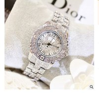 Wholesale Tungsten Watch Sale - Hot Sales!Luxury Crystal Women Watches! Female Diamond Dress Watch Ladies Fashion Full Rhinestone Wristwatches Watch Women FA08040