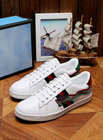 Wholesale Chinese Fabrics Dragon - Personality And Fashion Famous Luxury Brands Genuine Leather Flats Sneaker Customized High Quality Men & Women Chinese Dragon Flats Casual