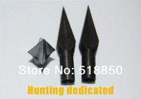 Wholesale Hunting Free Shiping - 12pcs black arrow broadhead 13g hunting arrow tip for archery wooden arrow free shiping bamboo