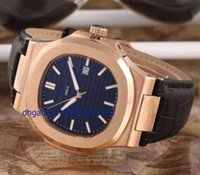 Wholesale Factory Leather Band - 2016 Factory Wholesale -2015 NEW Luxury Brand Roes Gold Men's Nautilus Wristwatch Fashion Leather Band Automatic Self-wind Men Watch