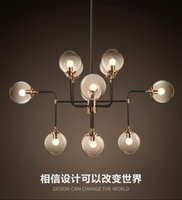 Wholesale Dna 12 - North Europe style design Modo Magic Bean Pendant Lamps 12 Globes Glass lampshade MODO DNA Pendant Lights for coffee clothing