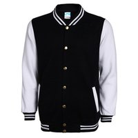 Wholesale mens college jackets - New High School Baseball Jacket Men Veste Homme 2017 Autumn Mens Fashion Slim Cotton Varsity Jackets Casual Brand College Jacket