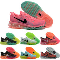Barato Sapatos Desportivos Com Desconto Para Mulheres-Drop Shipping Atacado Sapatos de corrida Men Women Air Cushion 2014 Sneakers Autêntico 2016 New Discount Weaving Sports Shoes Size 36-45