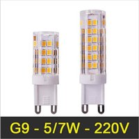 Wholesale mini light chandeliers - Mini G9 LED Lamp 5W 7W SMD2835 AC110-220V Bombillas LED Light Corn Bulb Ultra Bright Chandelier Lights Replace Halogen Lamps G9