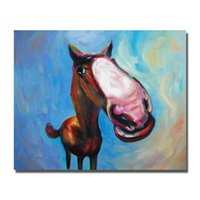 Wholesale Cheap Framed Decorations - New Design Horse Painting Animal Wall Decor Pictures Bedroom Decoration Modern Painting on Canvas Cheap Oil Painting No Framed