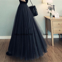 Wholesale Maxi Layered Skirt - fashion girl 3 layered Tulle voile Bouffant tutu maxi skirt summer spring Women big swing pendulum gauze Pleated ball gown long skirt