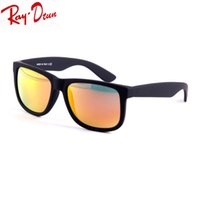 Wholesale Sunglasses Justin - Raydtun HOT Sell Justin Retro Sunglasses 5 Color flash Mirror UV400 Men Women Draving Brand Designer Fashion Lunette Occhiali Sun Glasses