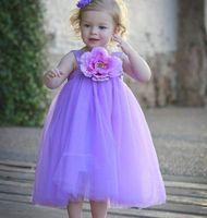 Wholesale Wedding Dress Wholesalers Europe - 2016 Summer New Girls Flower Wedding dress Europe and America Fluffy Gauze Party Dress Children Clothing F0515