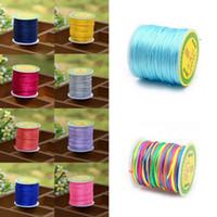 Wholesale Nylon Knot Macrame Cord - 50M 1.5mm Satin Nylon Cord Chinese Knotting String Thread Macrame Rattail Rope for Shamballa Bracelet Jewelry Making Craft DIY