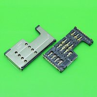 Wholesale Sd Card Zte - Wholesale-2pcs lot New Sim Card+SD Card 2 in 1 socket Holder Tray Slot Replacement Parts for Lenovo A355E A390T A889 A880 A708T ZTE Q101T