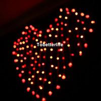 ingrosso luci fiabe rosse a spina-Luci rosse della tenda all'ingrosso Cuori forma fata luci luci Spina di UE Sparklights 110 v 220 v Warmwhite viola Natale festa di nozze