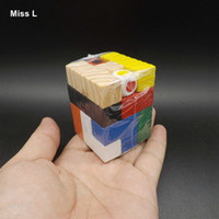 Wholesale Nine Years Old - Tetris Wooden Toy Cube Nine Color Building Puzzle Interaction Game Kid