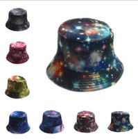 Wholesale Star Fish Silver - Wholesale-18 Color Summer Fantasy Galaxy Star Bucket Hats for Men Panama Women Fishing Hat Outdoor Sun hat 10