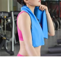 Wholesale Children Workouts - Cooling Towel 30*100cm Camping Hiking Gym Exercise Workout Towel Ice Fabric Soft Breathable Cool Sports Towel Cool Towel DHL free shipping
