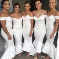 Wholesale Navy Blue Little Girls Dress - 2018 Mermaid Bridesmaid Dresses Long Bruidsmeisjes Jurken Wedding Party Dress Long Little Girls Maid of Honor Gowns Custom Made