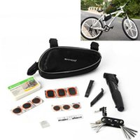 Wholesale Tools Bag Kit - Multifunction Sahoo Cycling Bicycle Bike Repair Tools Kit Set with Pump Box Bag Black