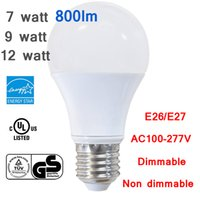 Led Energy Star for sale - 2016 5x 7w 9w 12w Reliable Energy Star GS UL A19 A60 E26 E27 LED Bulb Idea Replacement for CFL Finament Lamp