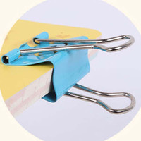 Wholesale Metal Clips For Papers - 48pcs lot Smile Metal Binder Clips For Notes Letter Paper Books Home Office School 19mm 25mm Clip File Paper Fashion Prize