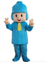 Wholesale Dora Adult Mascot Costumes - 2016 New pocoyo costume adult plush mascot costume dora elmo barney doraemon kitty cartoon character costumes party