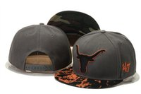 Wholesale Wholesale Longhorns - 2016 Longhorn Snapback Caps Popular College Hats All Black Sports Mix Match Order All Caps in stock Top Quality Hat New Beanies Heather Gra