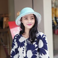 Wholesale Sun Hats Linen mix New Spring and Summer Elegant Women s Fashion Cap Ladies Flower Rose Bucket Hat Women Small Fedoras Hat Clothe Headwears