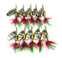 Wholesale Spinner Baits Blades - 2016 Metal Spinner bleeding fishing lure 6.4cm 6.8g VIB Blades Carp Bass Fishing Spinnerbaits