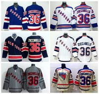 Wholesale Cheap Mats - 2016 Ice Hockey 36 Mats Zuccarello Jersey Cheap New York Rangers NHL Jerseys Winter Classic Stadium Series Team Navy Blue White Gray Beige