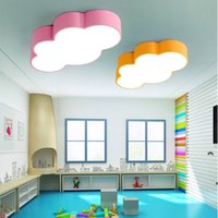 Wholesale Cloud Room - LED cloud kids room lighting children ceiling lamp baby ceiling light with yellow blue red white color for boys girls bedroom fixtures