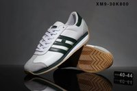Wholesale Round Bar Sizes - 2017 Fall New Brand Three bars Cortez Running Shoes For Genuine Leather Lace up Mens Casual Flat Shoes Sneakers Size 40-44