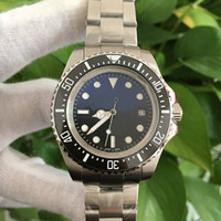 Wholesale Asia Watches - 2 Colors High Quality Watch Asia 2813 Movement Ceramic Bezel 44mm 116660 D-Blue Sea-Dweller wristwatch Automatic Mens Watch Watches