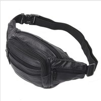 black leather fanny pack - Good Quality Leather waist pouch large waist bag leather bag Fanny pack sports bag pockets