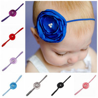 Wholesale Thin Elastic Baby Headbands - Newborn Baby Headbands Flower Kids Pearl Thin Band Headbands Girls Elastic Headwear Children Hair Accessories Headdress Free Shipping KHA35