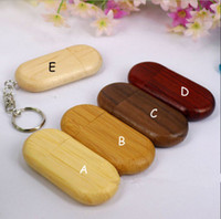 Wholesale Wooden Keyrings - Keyring Natural Eco-friend Bean Wood Bamboo Wooden USB 2.0 Memory Stick Flash Drive 4GB 8GB 16GB 32GB 64GB 128GB 100%