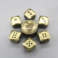 Wholesale Metal Boning - Metal Dice Spinner Zinc Alloy Devil's Bones Fidget Spinners Metal Craps Hand Spinner EDC Decompression Fidget Toys