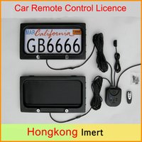 Wholesale wholesale license plates - USA szie Metal Auto Car Remote Control Licence Plate Holder, Privacy Cover, Stealth Hidden License Plate Frame 315*170*25.8mm