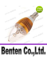 Dimmable conduit E14 E27 E12 3 * 3 9W High Power Led Bougie ampoule ampoules LED éclairage de la lampe de lustre LLFA193 lumière