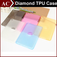 Wholesale Ipad Case Diamond Crystal - Crystal Diamond Pattern Clear Transparent Soft TPU Back Case Cover For iPad Mini 1 2 3 4 Air 5 6 Pro Candy Color Shockproof Protective Shell