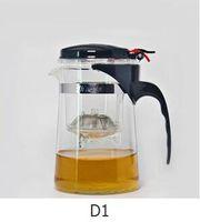 juegos de tetera de vidrio resistente al calor al por mayor-Té de cristal a prueba de calor 500ml Juego de té de la flor de la olla de té de la tetera de Puer