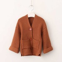 Wholesale Girls Cardigan Vintage - Everweekend Girls Knitted Sweater Cardigans Vintage Candy Color Princess Autumn Winter Jackets Outwears