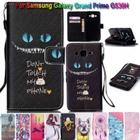 Wholesale Skull Galaxy Note Cases - Wallet Flip Leather Flower Skull Dreamcat Stand Case TPU Cover For Samsung Galaxy Grand Prime G530 S6 S7 Edge Note iPhone 5 SE 6 6S Plus