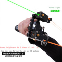 Wholesale Catapult Lights - 2016 new style slingshot JING QUAN Powerful Catapult Slingshot Hunting Powerful Catapult black dogs slingshot hunting bow with green light