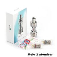 Wholesale Evic Atomizer Clearomizer - Ismoka Eleaf Melo 2 Atomizer 4.5ml Melo2 Sub Ohm Tank Airflow Adjustable Clearomizer Best Match iStick 60W eVic Mini Nebox 100% Original