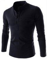 Wholesale Long Slim Polo Design - Free postage Spring 2016 Men's Long t Polos Men's fashion Korean Slim clamshell design pocket size M-XXL Free shipping!