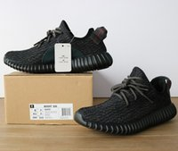 Wholesale Dive Quality - better quality 350 Boost Training Shoes Kanye west shoes Oxford Tan Moonrock Kanye Shoes Pirate Black Turtle Dove Keychain+Socks+Receipt+BOX