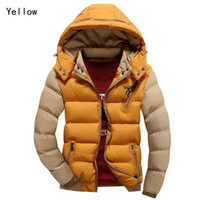 Wholesale Coat Handsome - Fall-2016 New Arrival Men Jacket Warm cotton coat mens casual hooded jackets Handsome outdoor thicking Parka Plus size XXXL Coats